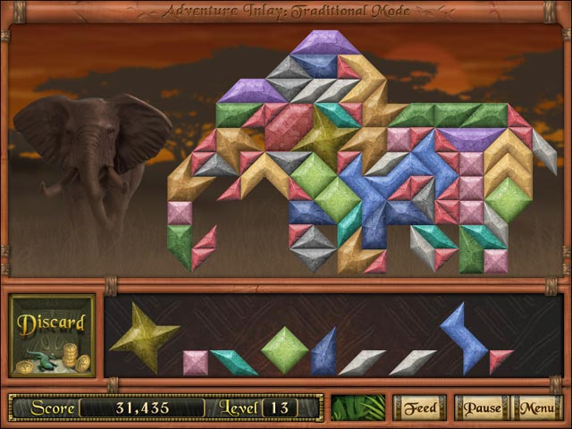 Adventure Inlay: Safari Edition Screenshot 1