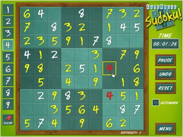 Gamehouse Sudoku Screenshot 4