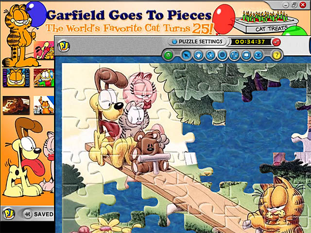Garfield Goes to Pieces Screenshot 2