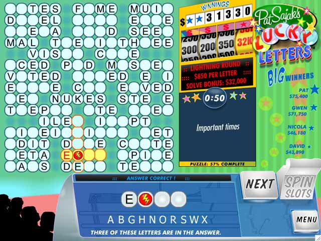 Pat Sajak's Lucky Letters Screenshot 2