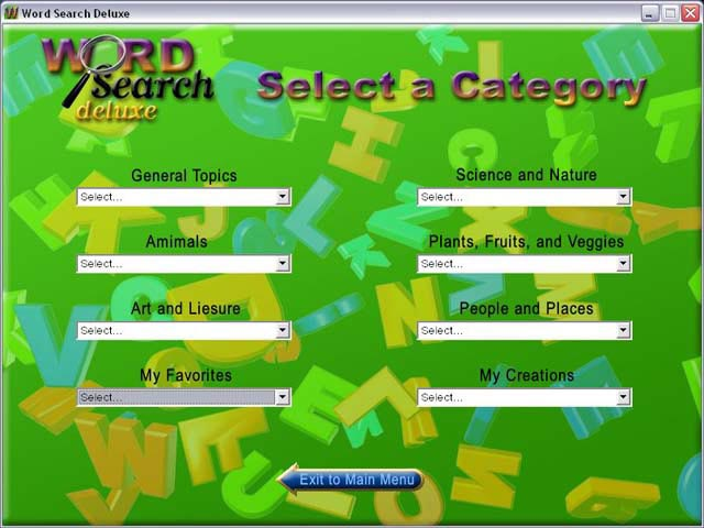 Word Search Deluxe Screenshot 3
